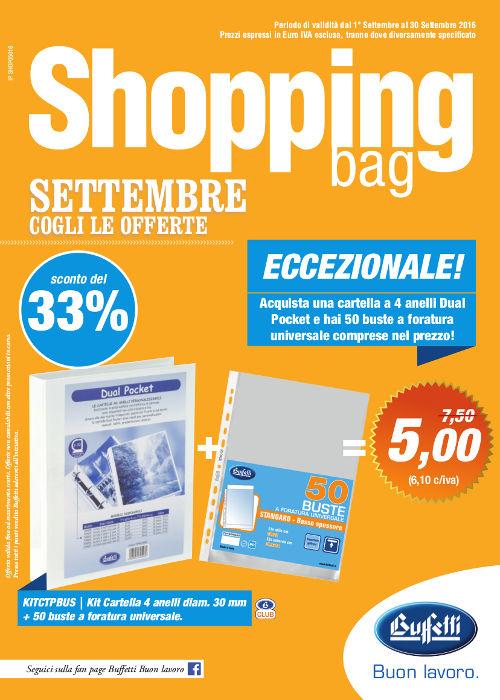 Shopping Bag Buffetti - Settembre 2016